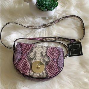 Handbags - Purple Snake Skin Crossbody Purse